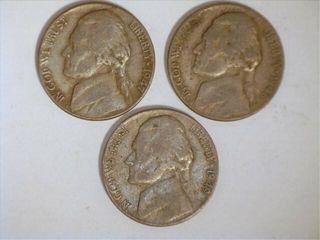 1940 s Jefferson Nickels  1940 3  1941 2