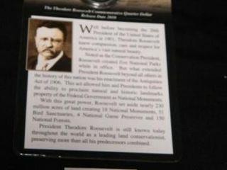 Teddy Roosevelt Commemorative Quarter Dollar