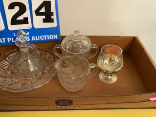 lot of Clear Glassware