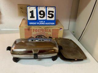 Fostoria Sandwich Toaster and Waffle Iron