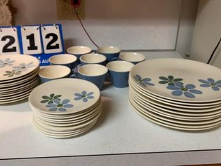 Set of Cunningham Blossom Dishes