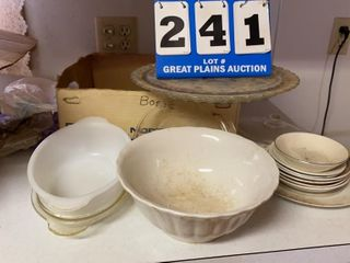lot of Assorted Glassware and Dishes