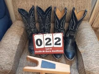Two Sets of Boots and Boot Jack