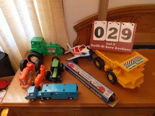 Toy Tractors  Airplane  Train  Dump Truck