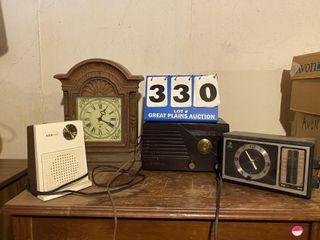 lot of Clocks and Radios