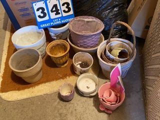 lot of Flower Pots and Baskets