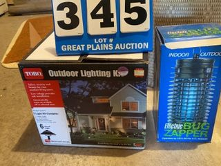 Outdoor lighting Kit and Electric Bug Zapper