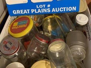 Box of Assorted Jars