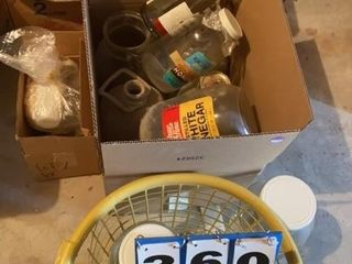 lot of Assorted Glass Jars and Bottles