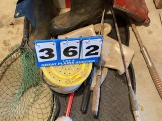 lot of Fishing Equipment and Assorted Items