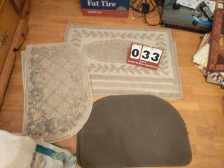 lot of 7 Rugs