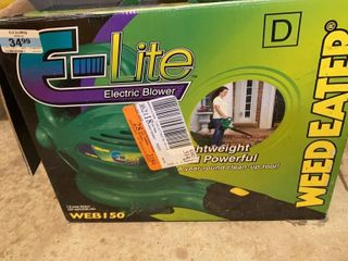 Weed Eater E lite Electric Blower