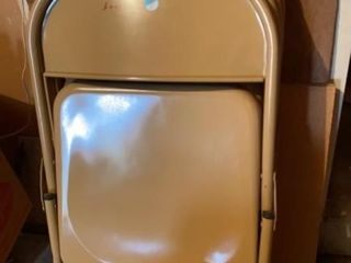 lot of 4 Folding Metal Chairs