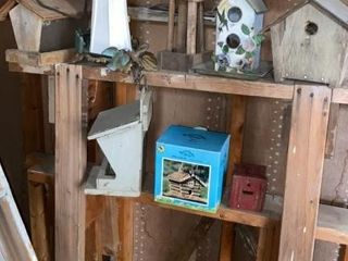 lot of Assorted Bird Houses and Feeders