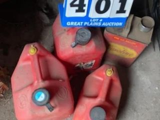lot of 4 Gas Cans