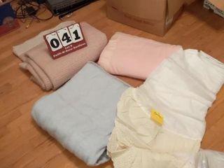 3 Blankets  Bed Skirt