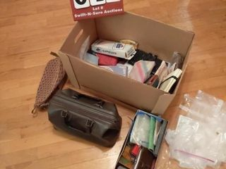 Box of Overnight Bags and Wallets