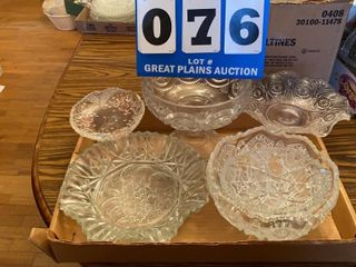 Mikasa Dish and Assorted Clear Glass
