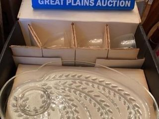 Federal Glass Company Snack Set