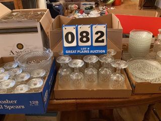 Set of Clear Glassware