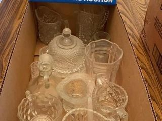 lot of Assorted Clear Glassware