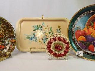 Platters  Bowl  Napkin Holder  4