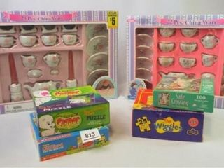 Puzzles  Child s Tea Sets  in box