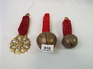 Bells  Medallion on Velvet Strap  3