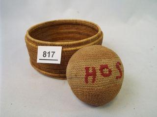 Knitted Ball  HOS  Woven Basket