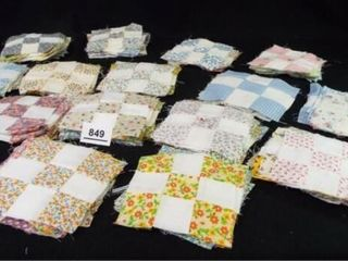 Pieced Quilt Squares  4 x 4  approx 150