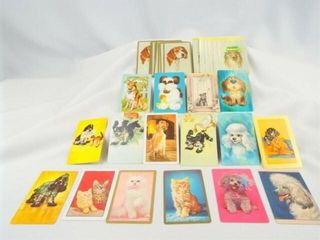 Vintage Playing Cards  Dog   Cat  30