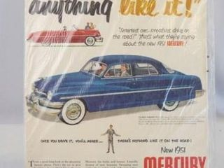 1951 Mercury Advertising  13 x 10