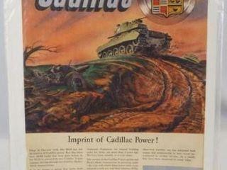 Cadillac Advertising  14 x 10