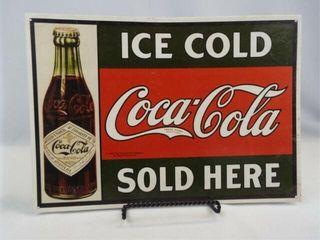 1993 Coca Cola Tin Sign  16 x 11