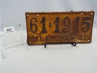 1948 Oklahoma license Plate