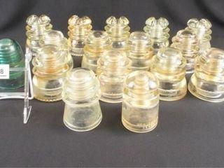 Glass Insulators  Hemingray  Whitall  17