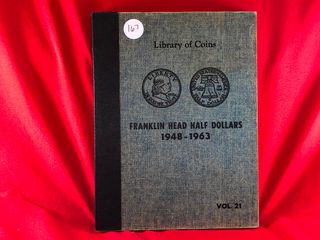 Franklin liberty Half Book  1948 1963   35  Coins  x35