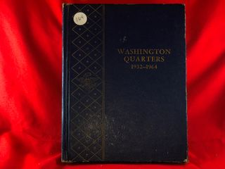 Washington Quarter Book  1932 1964   61  Coins  x61