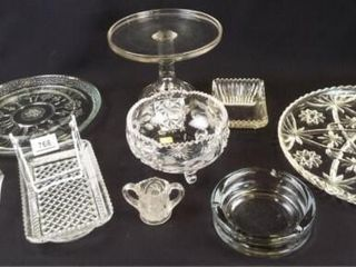 Glass Bowls  Platters  Cake Stand  9