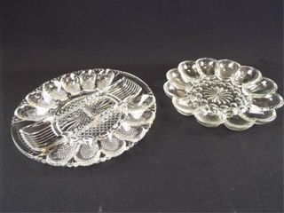Egg Glass Serving Plates  2