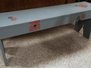 Wood Bench  Painted  Decorated