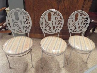 Metal Cafe Style Chairs  3