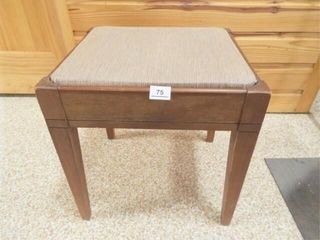 Wood Seat with Storage