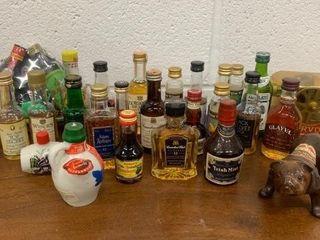 Grouping of Many Vintage liquor Bottles