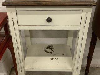 Open Shelf Single Drawer Side Table