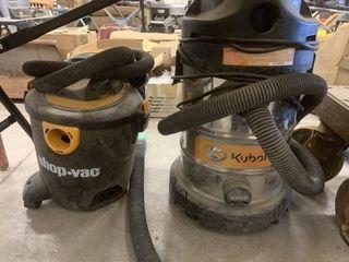 Shop Vac and Kubota Vacuums