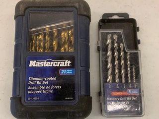 Mastercraft Titanium Coated Drill Bit Set