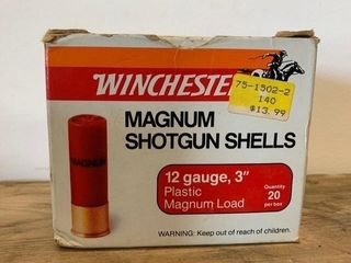 Box Winchester 12Ga 3  No 2 Shotgun Shells