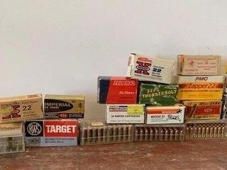 large lot of Misc  22 Rim Fire Cartridges
