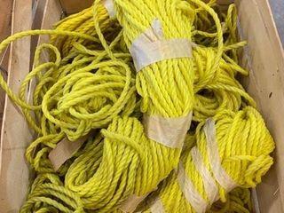 lot of Yellow Nylon Rope